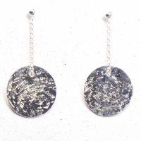 Glitter Ball Silver Earrings (small)