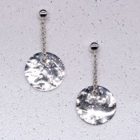 Glitter Ball Silver Earrings (dainty)
