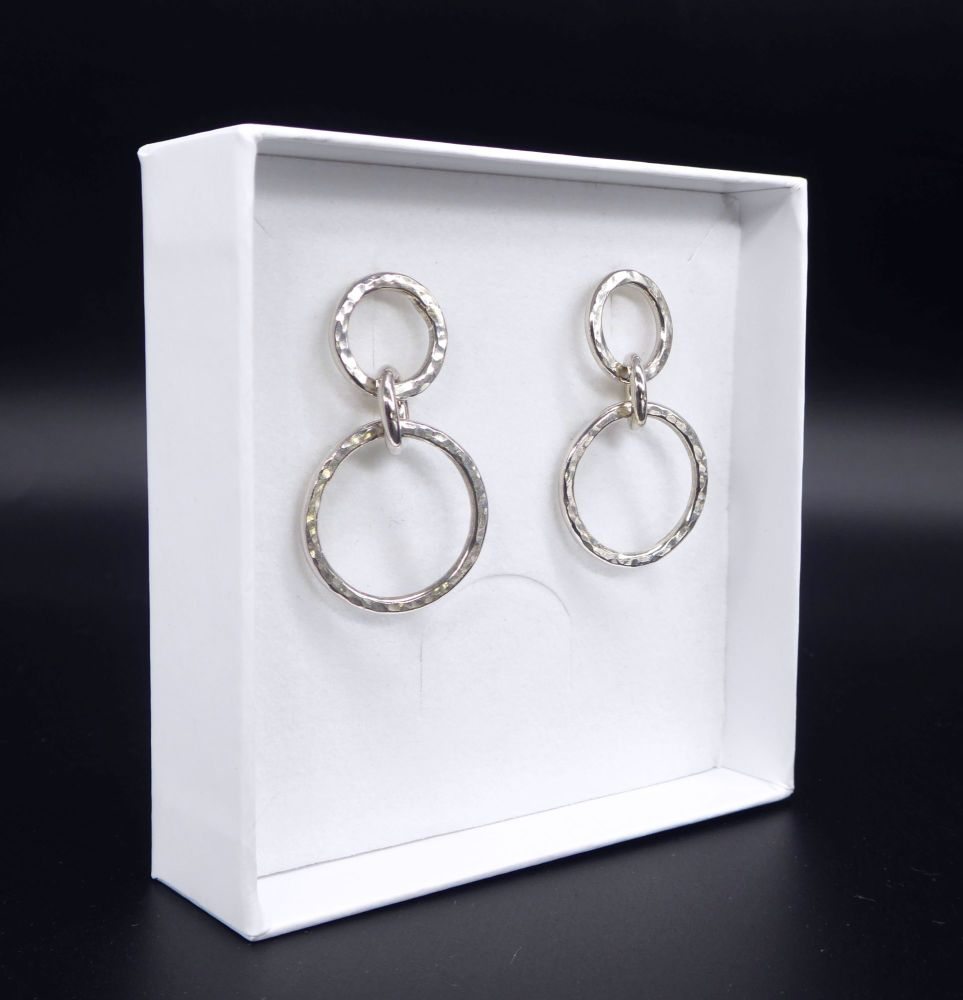 Vanilla Links Earrings - Handmade Silver Earrings - Exclusive to Nude Jewel