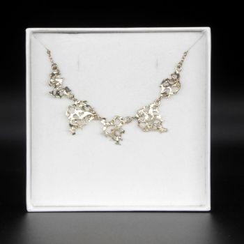 Silver Web Necklace