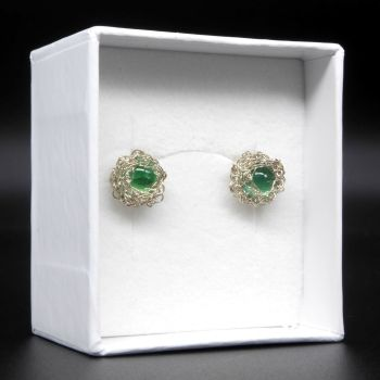 Emerald Crochet Earrings