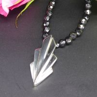 Large Art Deco Silver Necklace and Onyx gemstones