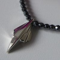 Small Art Deco Pendant with Hematite