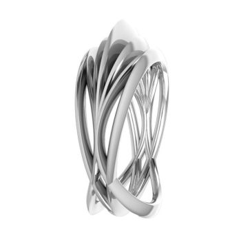 Infinity Armour Ring - 18 Carat White Gold