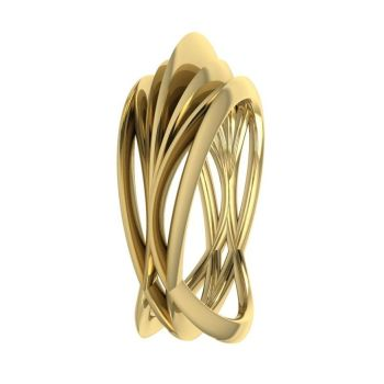 Infinity Armour Ring - 18 Carat  Yellow Gold
