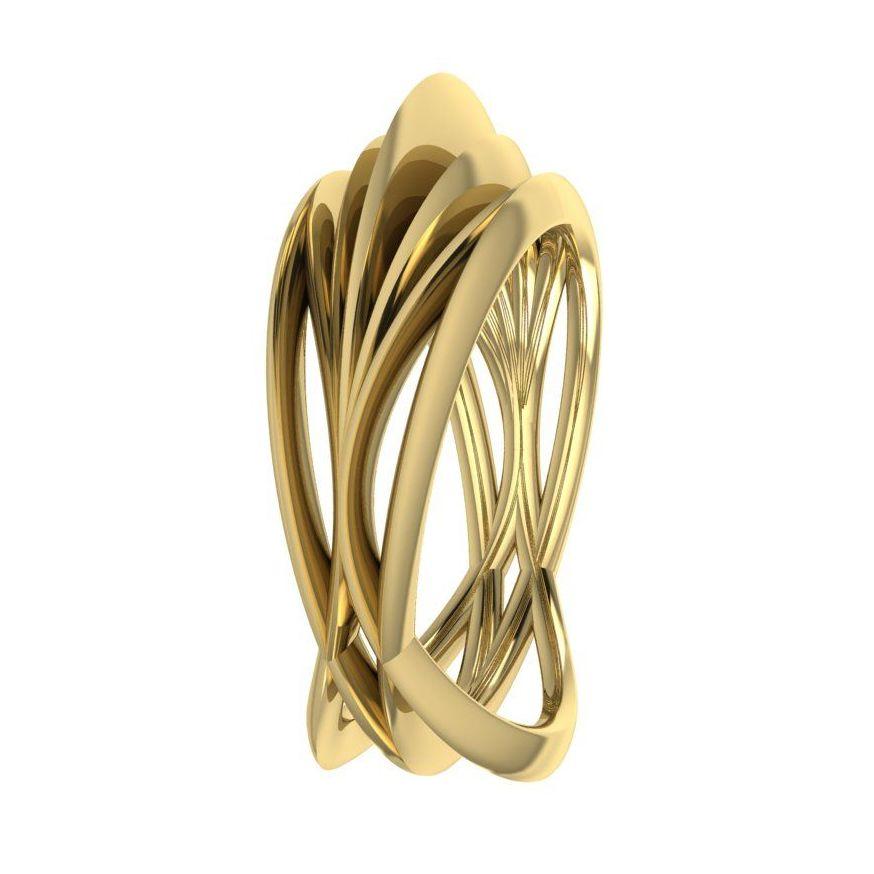 Infinity Armour Ring - 18 Carat  Yellow Gold