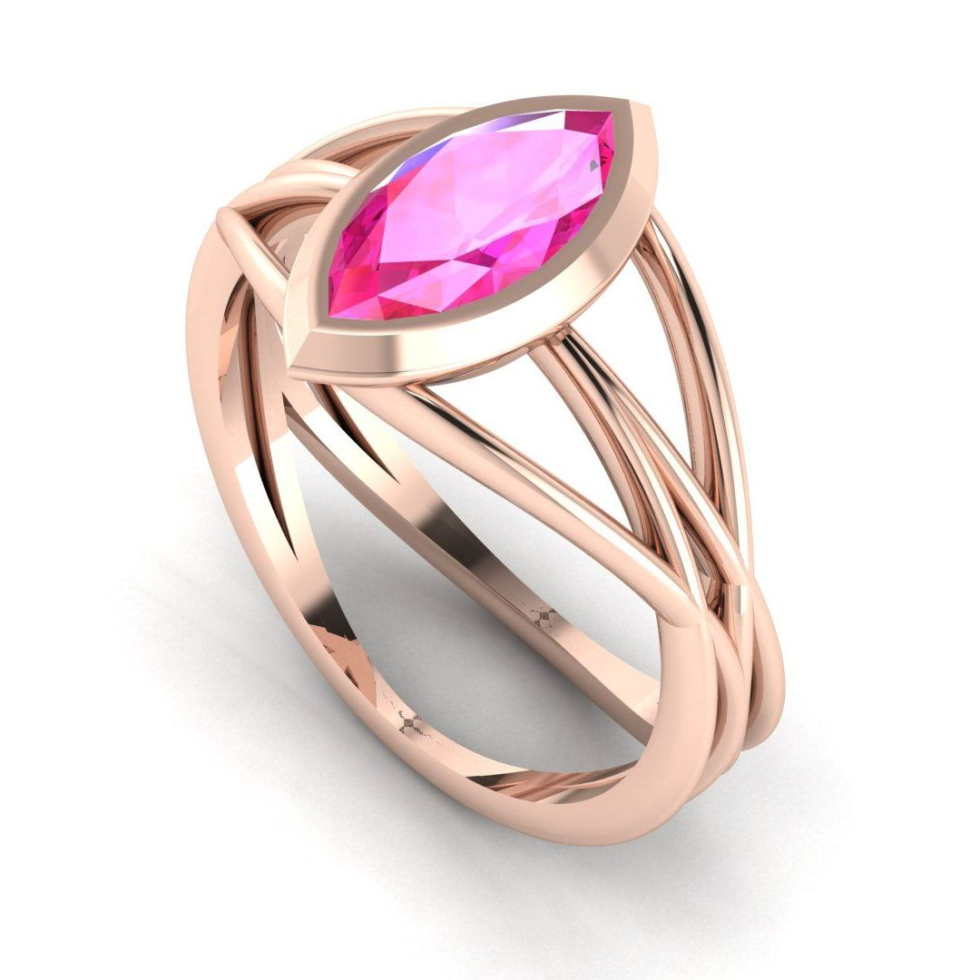 Infinity - Pink Sapphire - Rose Gold