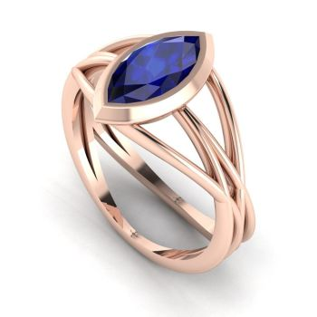 Infinity - Blue Sapphire - Rose Gold