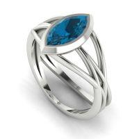 Infinity - London Blue Topaz - White Gold