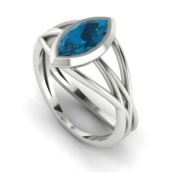 Infinity - London Blue Topaz - White Gold