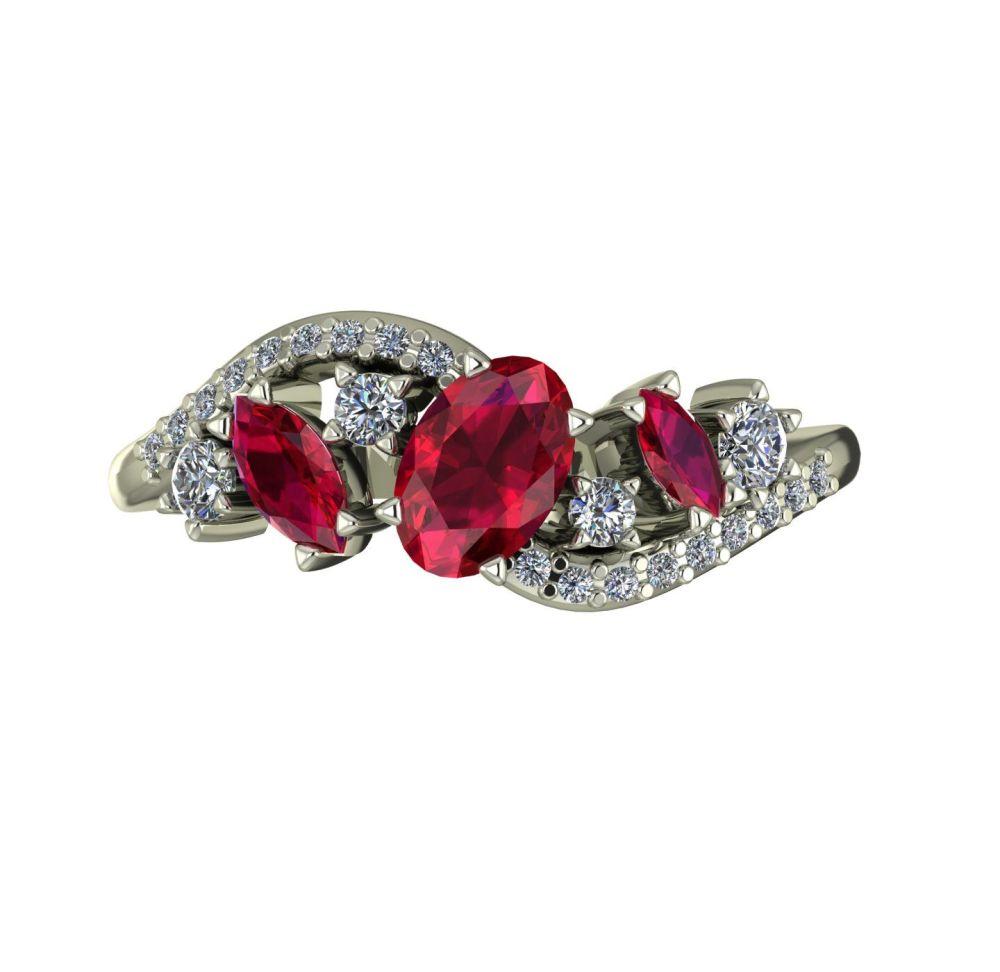 Ruby, Diamonds & White Gold