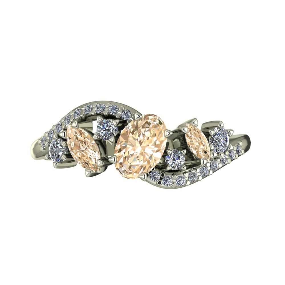 Champagne diamond and diamonds rose gold