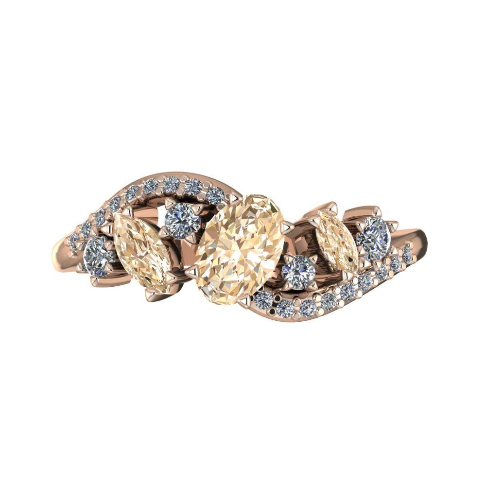 Atlantis Storm Champagne Diamonds - Rose Gold