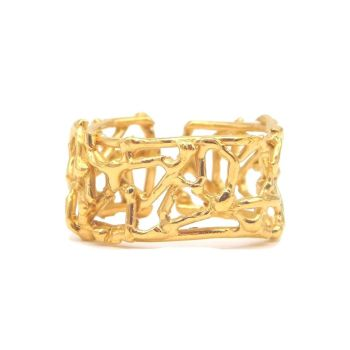 Gold Web Cuff Ring
