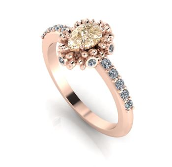 Garland: Champagne Diamond, Diamonds & Rose Gold Ring