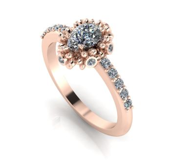 Garland: Diamonds & Rose Gold Ring