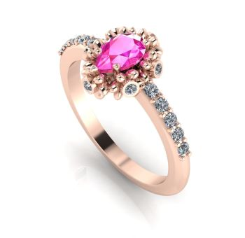 Garland: Pink Sapphire, Diamonds & Rose Gold Ring