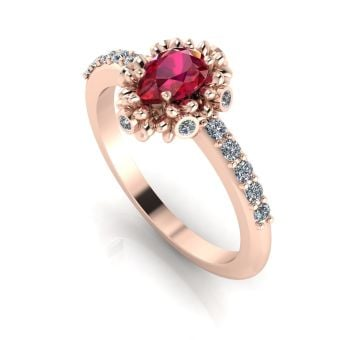 Garland: Ruby, Diamonds & Rose Gold Ring