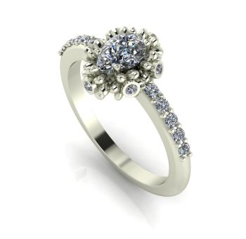 Garland: Diamonds & White Gold Ring