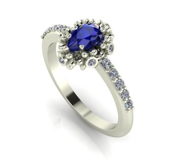 Garland: Sapphire Diamonds & White Gold Ring