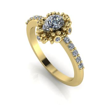 Garland: Diamonds & Yellow Gold Ring
