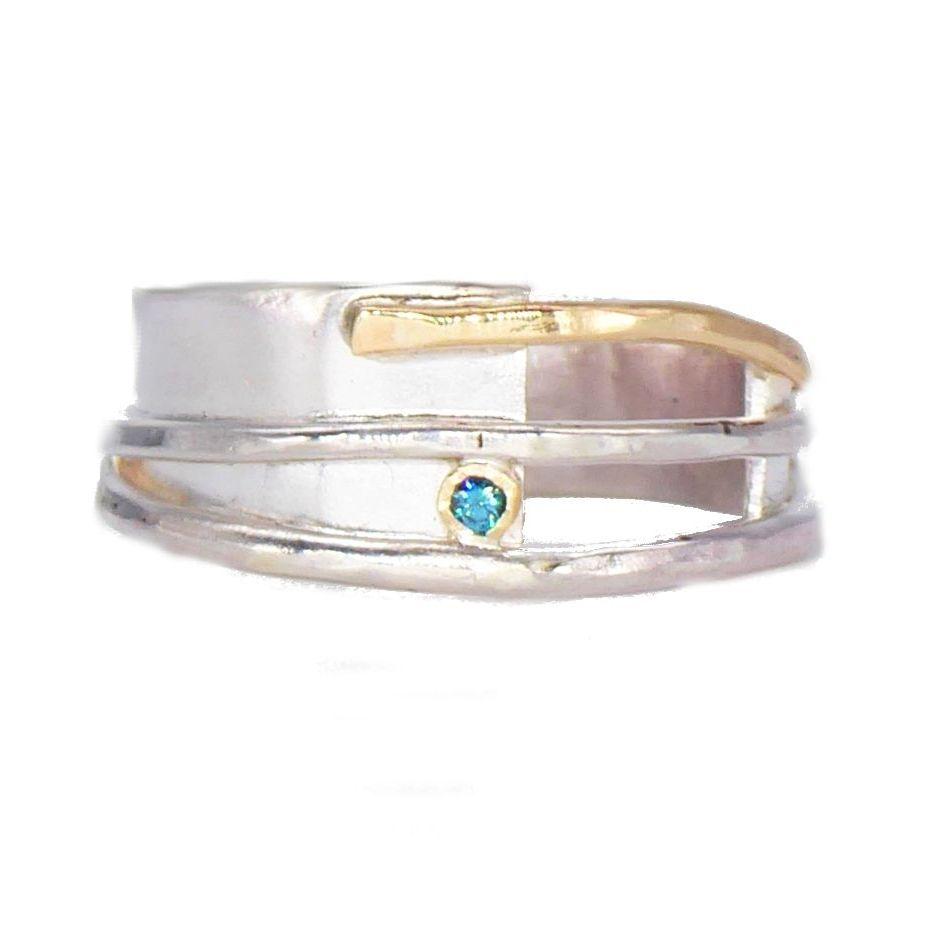Blue Diamond Misu Ring