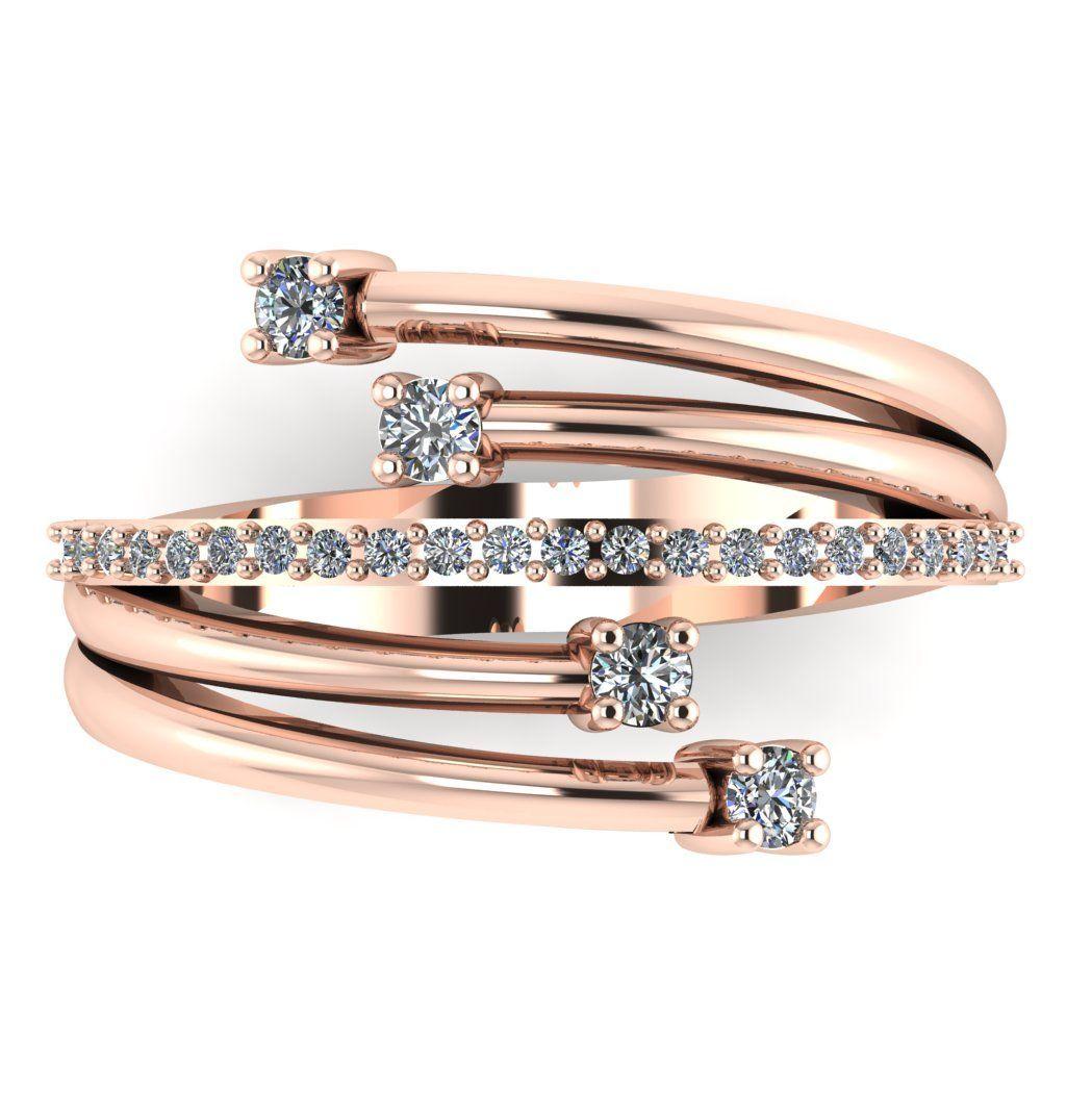 Rose Gold Strands Diamond Eternity Ring