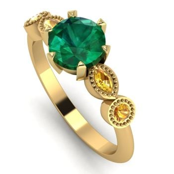 Milena - Emerald and Yellow Sapphire