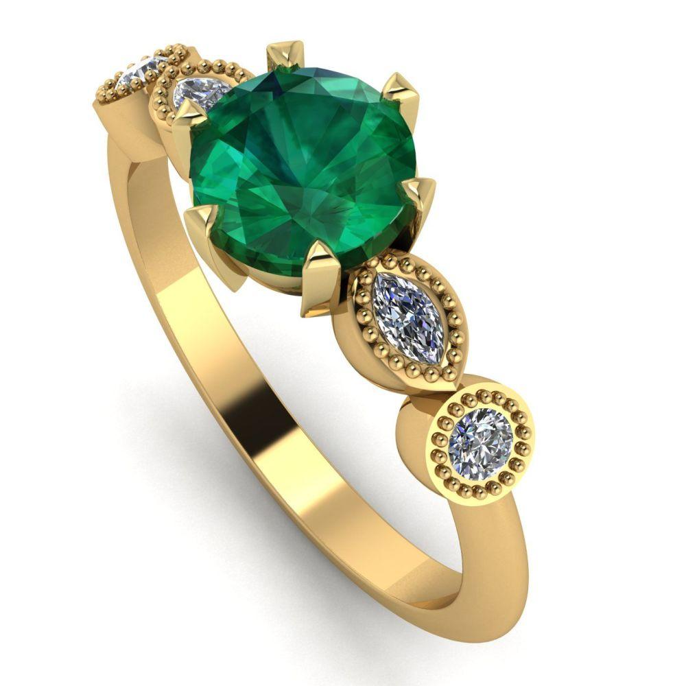 Milena - Emerald and Diamonds