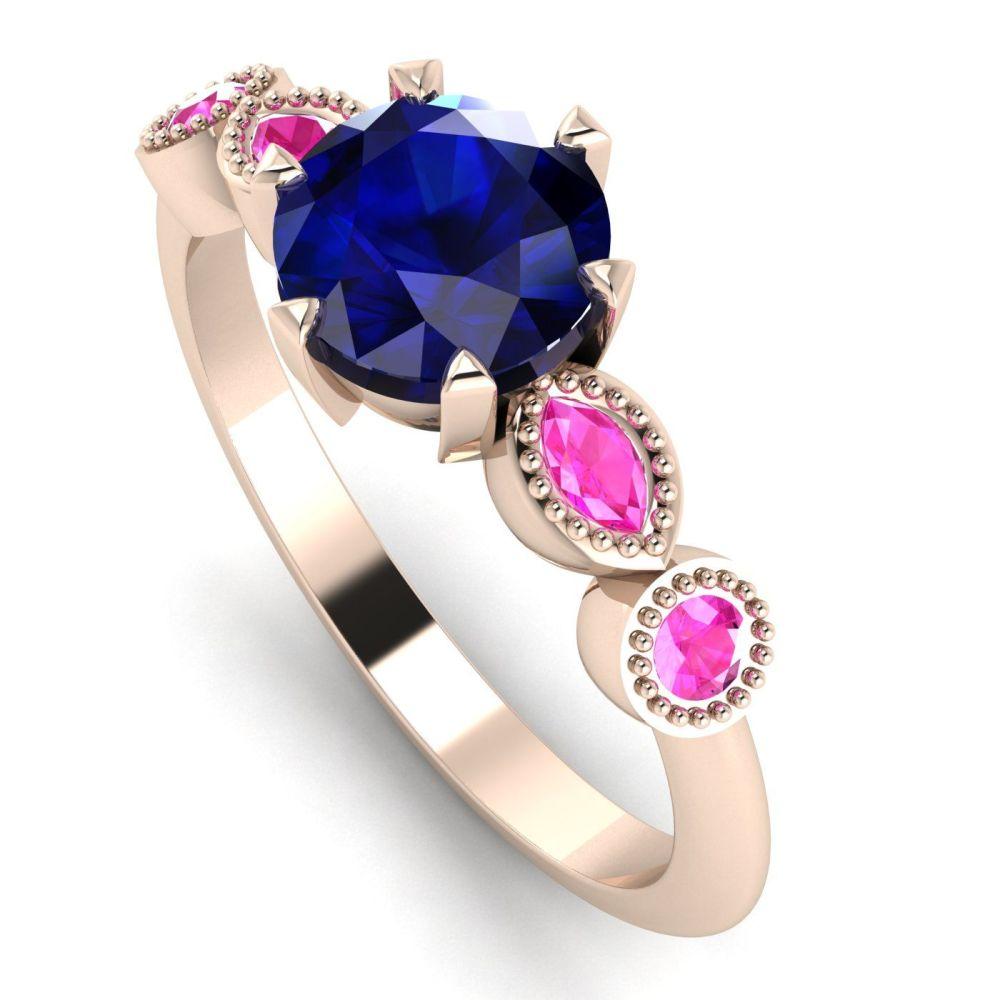 Milena - Sapphires & Rose Gold