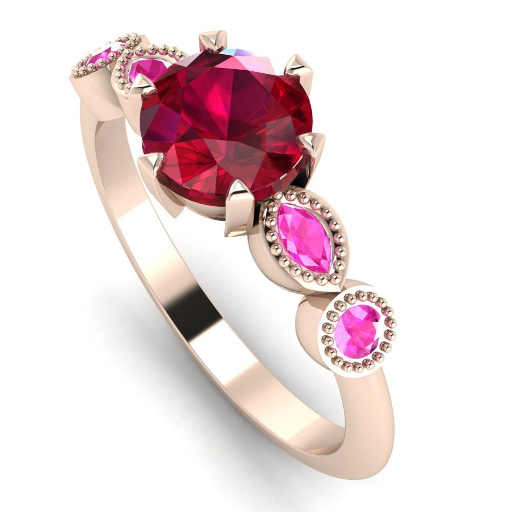 Milena Rose - Ruby and Pink Sapphires