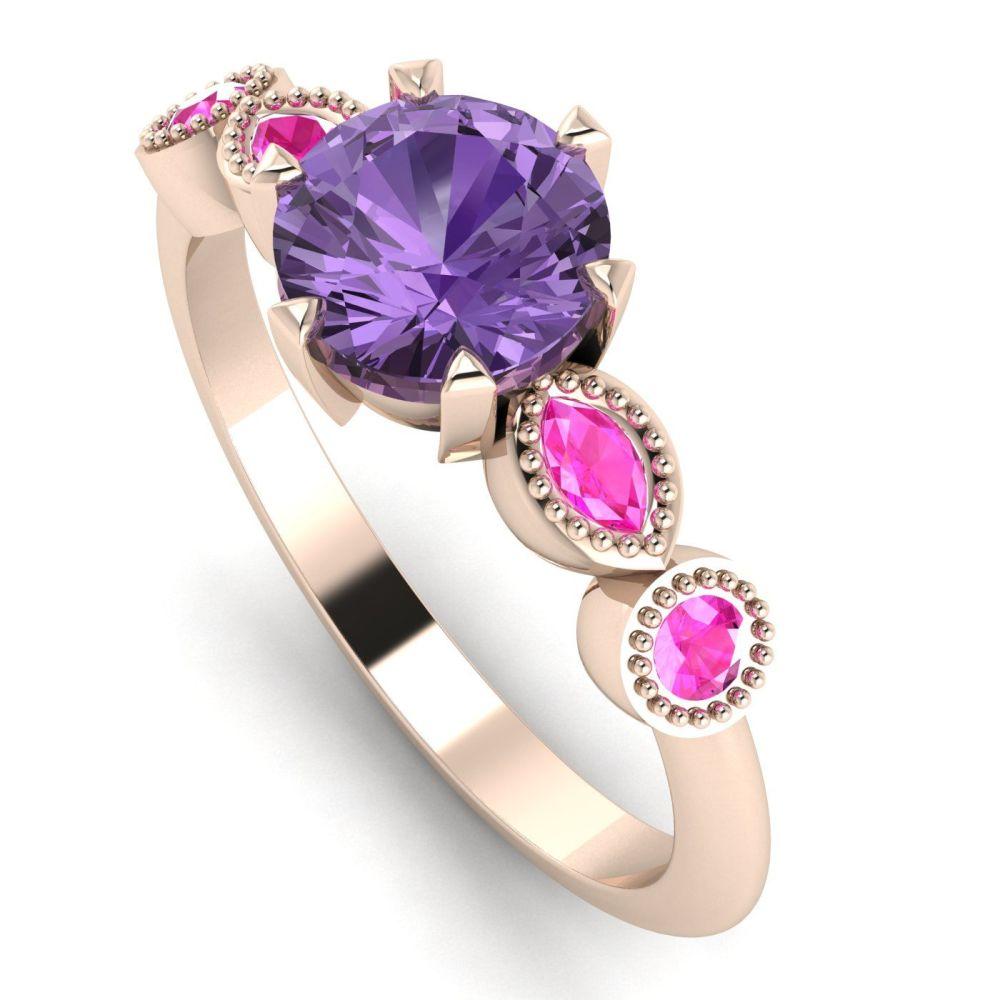 Milena Rose - Violet and Pink Sapphires