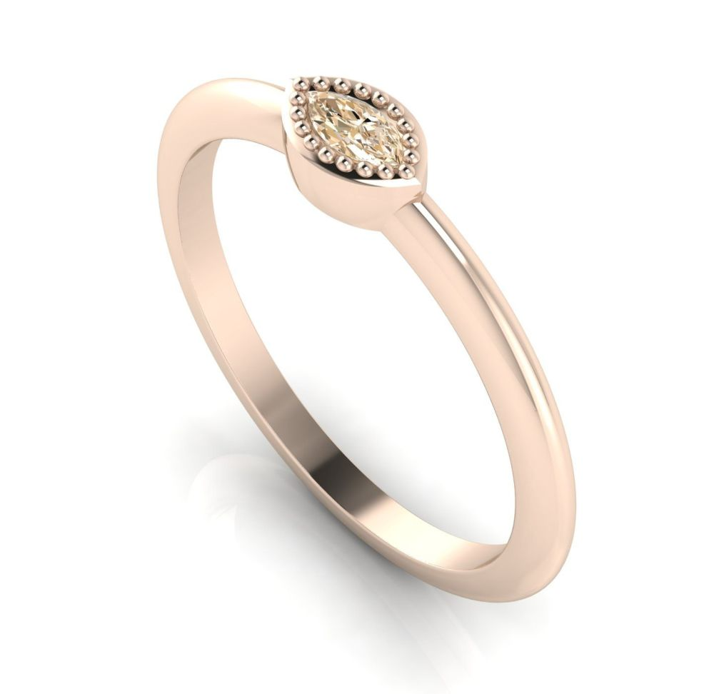 Mini Astraea- Brown Diamond & Rose Gold Ring