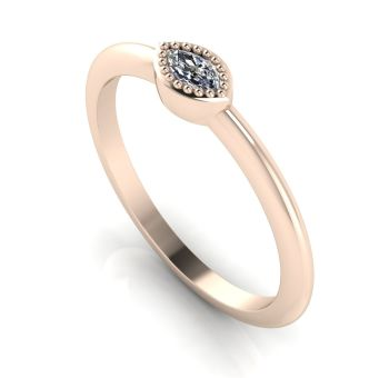 Mini Astraea- Diamond & Rose Gold Ring
