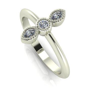 Astraea Trilogy - Diamond & White Gold Ring