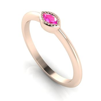 Mini Astraea- Pink Sapphire & Rose Gold Ring