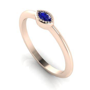 Mini Astraea- Sapphire & Rose Gold Ring