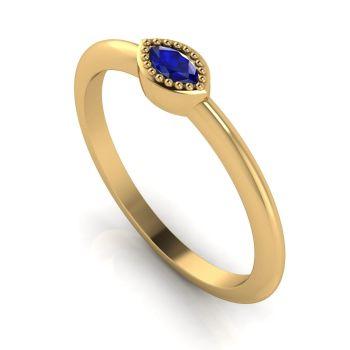 Mini Astraea - Sapphire & Yellow Gold Ring