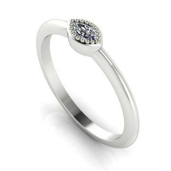 Mini Astraea- Diamond & White Gold Ring