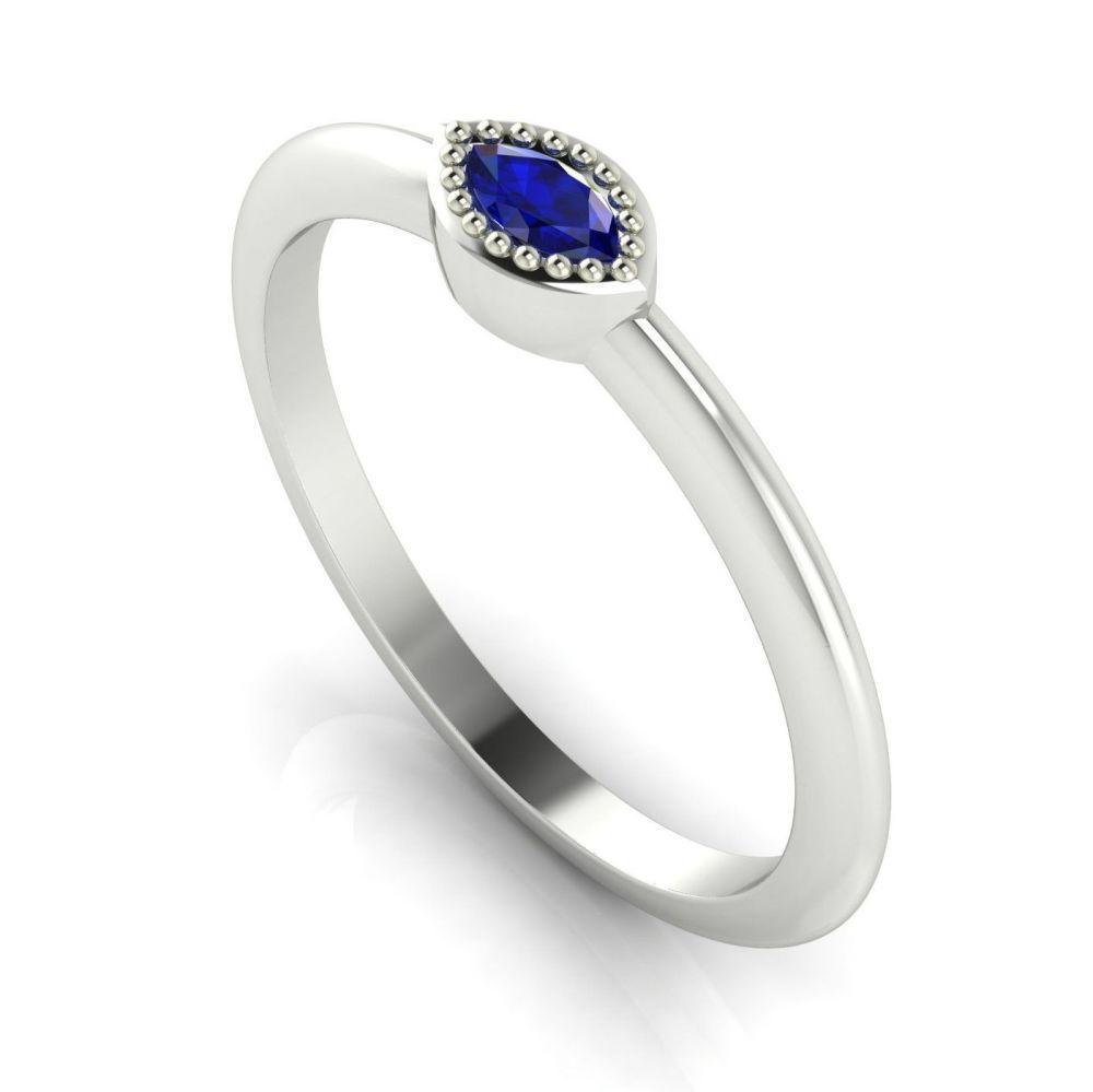 Mini Astraea- Sapphire & White Gold Ring