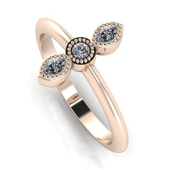 Astraea Trilogy - Diamond & Rose Gold Ring