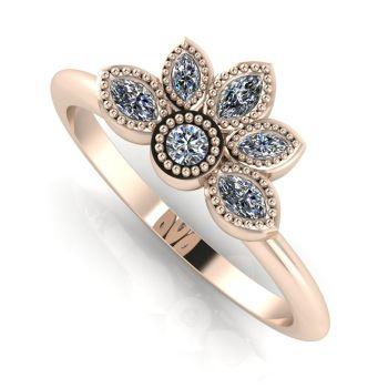 Astraea Liberty Diamond & Rose Gold Ring