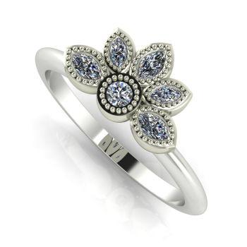 Astraea Liberty Diamonds & White Gold Ring