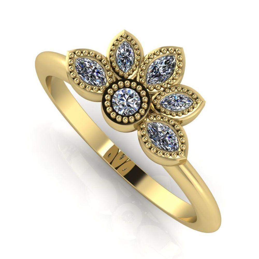 Astraea Liberty Diamonds & Gold Ring