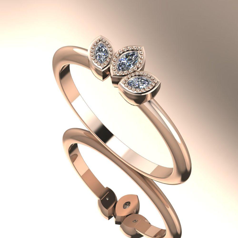 Astraea Liberty Echo - Diamonds & Rose Gold Ring