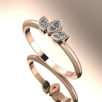 Astraea Echo - Diamonds & Rose Gold Ring