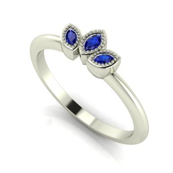 Astraea Echo - Blue Sapphires  & White Gold Ring
