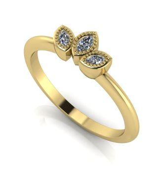 Astraea Echo - Diamonds & Yellow Gold Ring