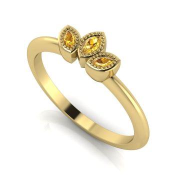 Astraea Echo - Yellow Sapphires  & Yellow Gold Ring