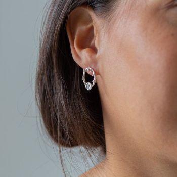 Rose & Thorn Silver Earrings